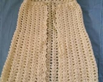 Crocheted Baby Shawl With Hood