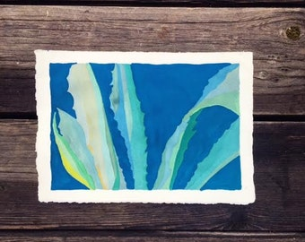 Abstract Plant with Azure Blue