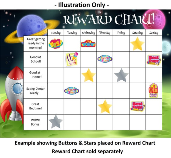 Reward Chart Buttons and Stars - MagReceptive