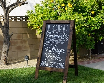 Handmade Wooden Chalkboard Easel for Wedding / Baby Shower