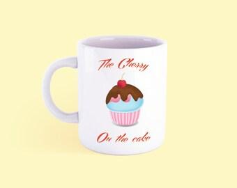 Cherry on the cake mug