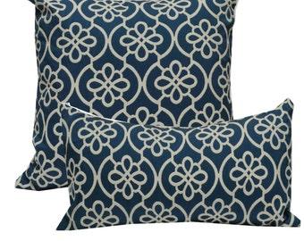 Decorative Pillow Cover Medallion Navy