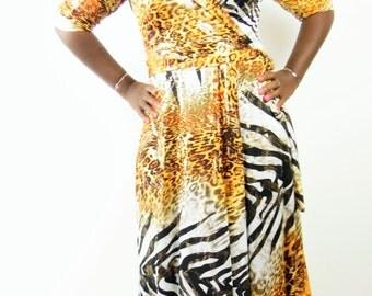 Womens Plus size Wrap dress 1x 2x 3x 4x 5x 6x plus size women fashion t