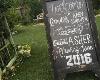 Custom Designed Event Chalkboard