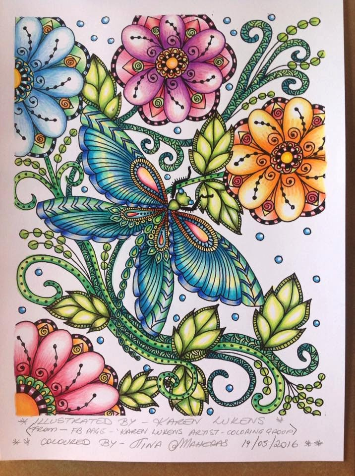 Butterfly Garden 2 1 Adult Coloring Book Page Printable