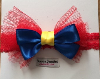 Snow White Tulle Lace Headband (Size for Babies to Adults) Inspired by Disney