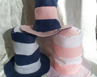 Dr Seuss Hats: White, Pink, Blue