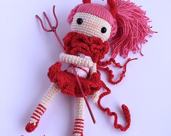 Crochet Doll Pattern - Devil Momo 么么