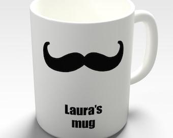 Moustache Custom Personalised Ceramic Funny Mug