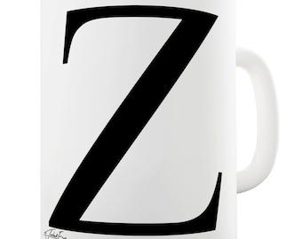 Alphabet Monogram Z Ceramic Tea Mug