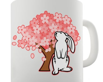 Bunny Down Under Ceramic Tea Mug