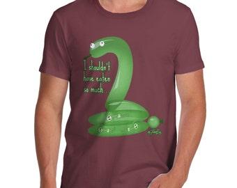 Men's Funny Snake I Shouldn't Have Eaten So Much T-Shirt