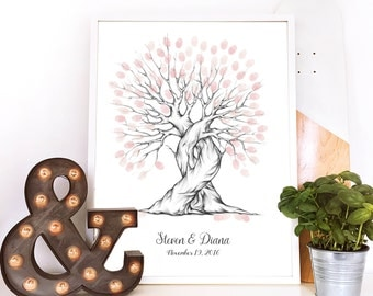 thumbprint tree, wedding keepsake, thumb print tree, custom wedding gift tree guest book, fall wedding centerpiece, wedding fingerprint tree