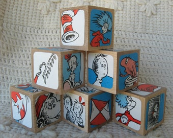 The Cat in the Hat Doctor Seuss Wooden Blocks