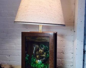 Vintage Squirrel Lamp