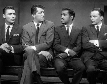 The Rat Pack: Peter Lawford, Dean Martin, Sammy Davis Jr. and Frank Sinatra - 5X7, 8X10 or 11X14 Photo (AA-147)