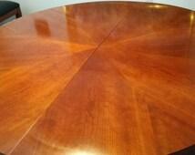 Ethan Allen Biedermeier Table with 6 Chairs.  Light Cherry. Medallion Series