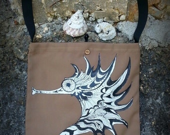 Bag with hand painted
