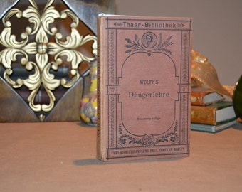 "Handmade Upcycled Vintage Book Journal - ""Wolff's Dungerlehre"""