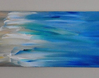 Water to Land - Original Abstract Acrylic Painting