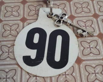 vintage tag key chain