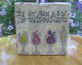 It's Cardboardeaux!...: Wine Lover Box Sign