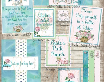 The two shall become one bridal shower set