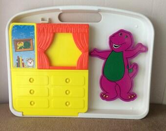 Playskool, Barney, I can dress Barney,  no cards