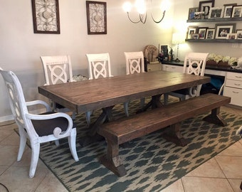 8ft Fancy Farmhouse Table (Local Pick up/Delivery Only!)