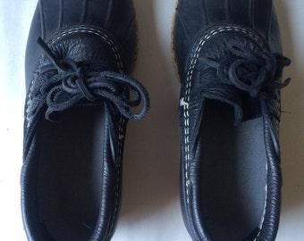 LL BEAN  Bean Boots Navy Low Duck Rain Boots Womens SIZE 7M