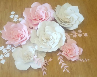 Handmade Large Paper Flowers for party Wedding decor  Backdrop Flower Wall Giant Paper Flowers , Birthday, Anniversaries, Showers, events
