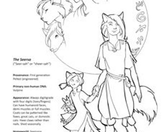 Peltedverse Coloring Page: the Seersa