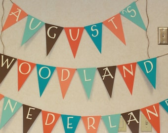 Woodland Party Banner Bunting