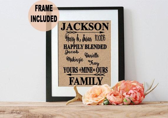 Wedding Gifts For Stepmom: Blended Family Gift Blended Family Sign StepMother Gift