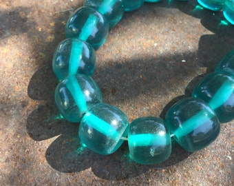 Chunky Teal Resin Beads - 30 Pieces - #173