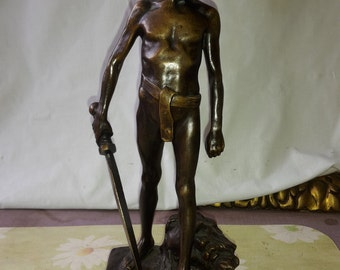antique H.Miller bronce statue