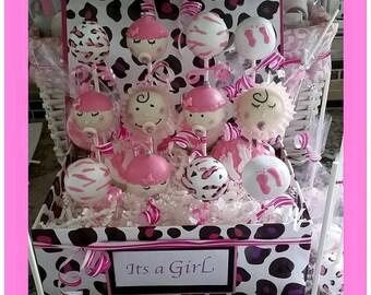 Baby Shower Cake Pops, Girls baby shower, boys baby shower, gender reveal baby shower, baby favors