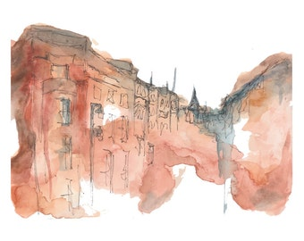 Travel Memories Watercolor Print