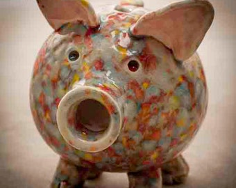 Handmade Ceramic Piggy Bank