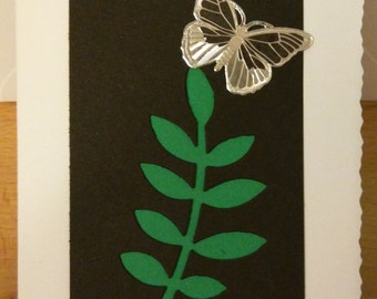 Leafy butterfly card