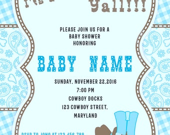 Cowboy Baby Shower Invitations -BSI_CBY_01