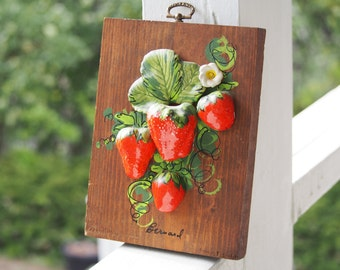 Strawberry Fields Wooden Wall Hanging