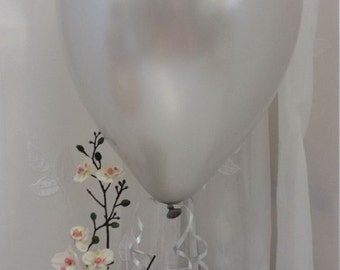 "12"" SILVER Latex Balloons - Weddings, Birthday Party, Barbeque"