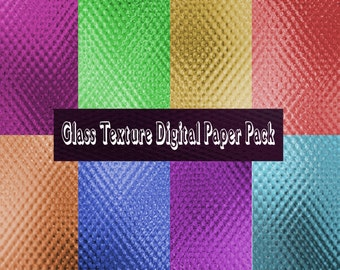 Glass Texture Background Digital Paper Pack