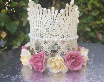 Lace, Crown, Baby, Photo, Props, Toddler, Newborn, Girls, Infant, Birthday, Birthday Girl, Girl Accessories, 1st Birthday