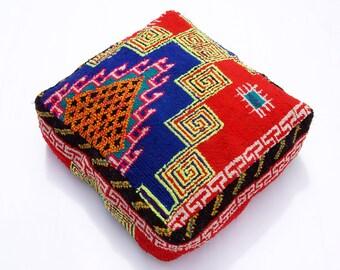 Vintage Berber Azilal Floor cushion/ Pouf