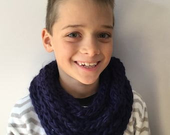 Double Finger knitted infinity Scarf, with one or two colours