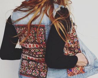 SALE Gypsy Banjara Denim Vest