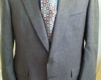 Christian Dior Monsieur Brown 2Button Sport Coat Blazer 100% Wool Vented