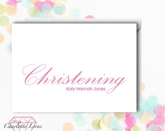 Christening Card Invitation - Personalised Invitation - Baptism - Christening - Digital Download File - Printable Card Invitation
